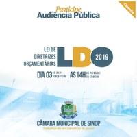 Câmara realiza audiência pública na terça sobre LDO 2019
